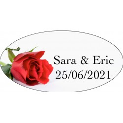 Stickers Mariage Rose