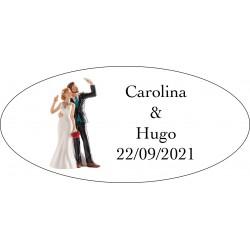 Autocollants pour Cadeaux Will & Grace Mariage