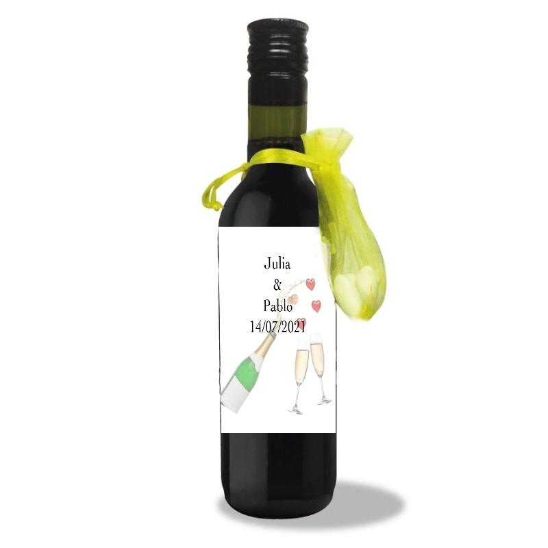 Bouteille de Vin Personnalisee pour Mariage