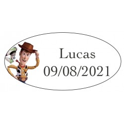Etiquettes Ovales pour Anniversaire Toy Story