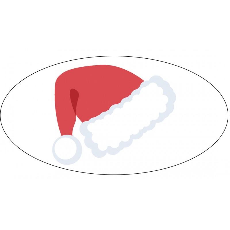 Sticker bonnet de Noël