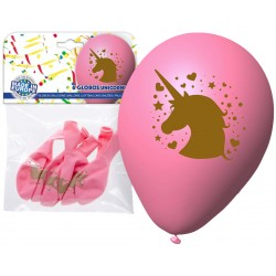 Pack ballons rose licorne