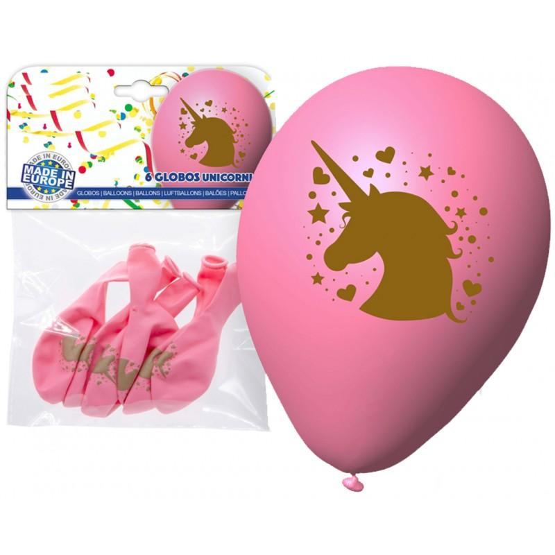 Pack ballons rose licorne