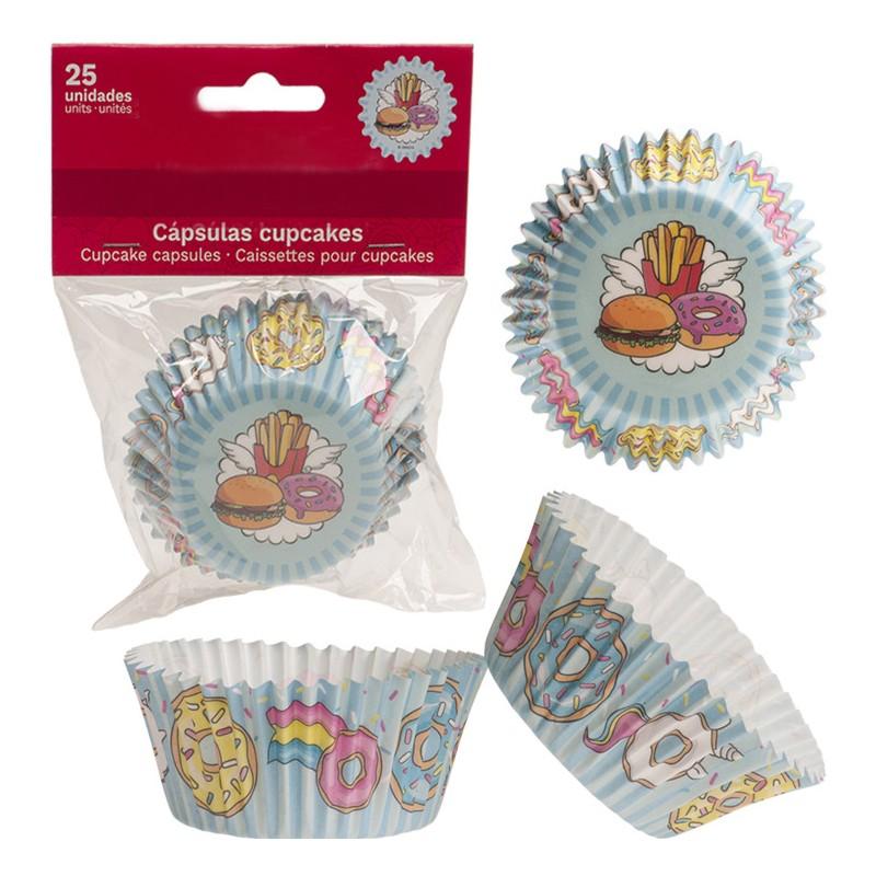 Pack 25 capsules de cupcakes originales