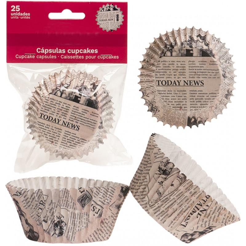 Pack 25 moules à cupcakes en papier