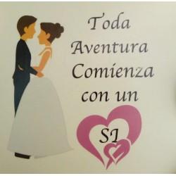 Adhesivos de boda 7,5 x 7,5 cm