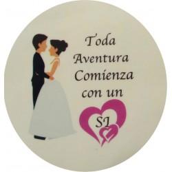 Adhesivo boda 5cm
