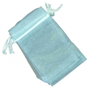 Pochette cadeau organza bleu clair 13 x 17