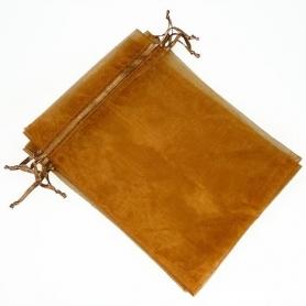 Pochette cadeau organza pas cher chocolat