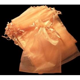 Decoration pochettes cadeaux organza orange