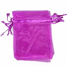 Petit sac cadeau organza violet