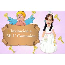 Invitation animée de fille de communion