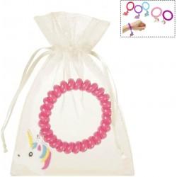 Bracelet licorne avec sac en organza