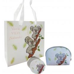 Cadeau avec design koala, sac à main, miroir et sac
