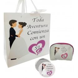 Cadeau de mariage spécial pour les filles, miroir, sac à...