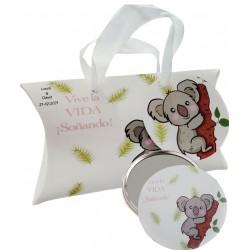 Cadeau avec design koala, miroir et boîte personnalisée...