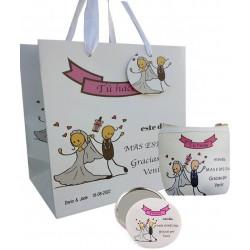 Coffret cadeau de mariage, sac à main, miroir et sac...