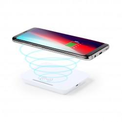Chargeur sans fil blanc avec support pour smartphone