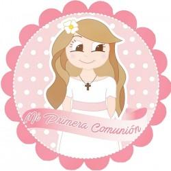 Autocollant fille de communion