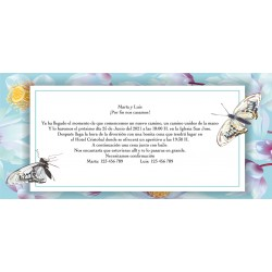 Invitations de mariage personnalisées par papillon