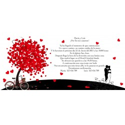 Invitations personnalisées de mariage arbre de vie