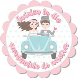 Autocollant de mariage