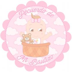 Autocollant décoratif pour fille de baptême