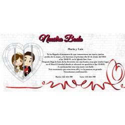 Invitations de mariage pas chères et personnalisées