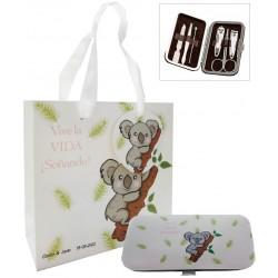Set de manucure koala personnalisé avec sac pour mariage