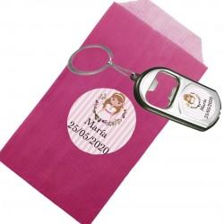 Porte-clés ouvreur avec enveloppe personnalisée pour la...