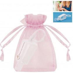 Bouteille de gel hydroalcoolique rechargeable avec sac...