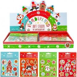 Pack d'autocollants de figurines de Noël pour enfants