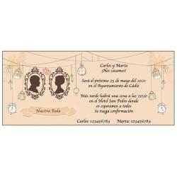 Invitation de mariage de style vintage