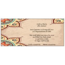 Mariage invitation faire-part vintage retro