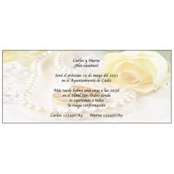 Faire-Part Romantique Perle