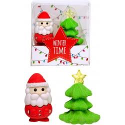 Ensemble amusant de 2 gommes de Noël pour enfants