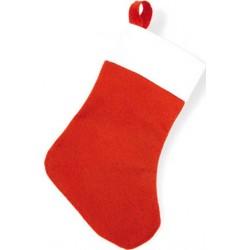 Bas de Noël rouge avec ruban à suspendre