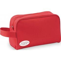 Trousse de toilette rouge personnalisée pour les entreprises
