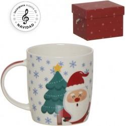 Ensemble de tasse de Noël drôle avec boîte à musique