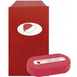 Pilulier rouge avec enveloppe personnalisée pour Noël