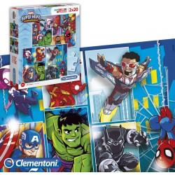 Ensemble de 2 puzzles Marvel Super Heroes