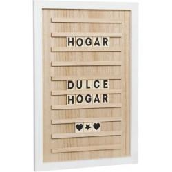 Panneau à messages en bois 60 lettres