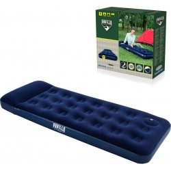 Matelas gonflable bleu simple pour le camping
