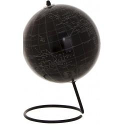 Mappemonde décorative avec support noir