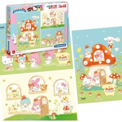 Set 3 Puzzles Hello Kitty 48 pièces