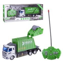 Jouet télécommandé de camion de recyclage