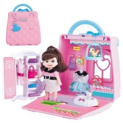 Mallette de maison de poupée