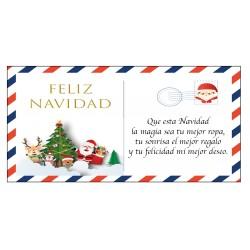 Carte postale de voeux Noël