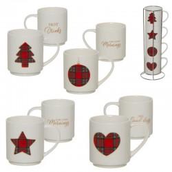 Tasses empilables décoration Noël