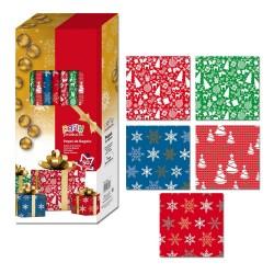 Papier d'emballage de Noël dans différents modèles